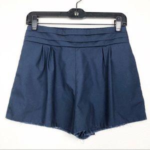 Ya Los Angeles Raw Hem High Waist Culottes Trouser